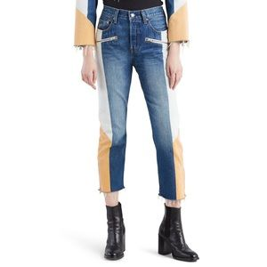 NWT Levi's 501 Moto Crop Jeans Wedgie Fit SOLD OUT